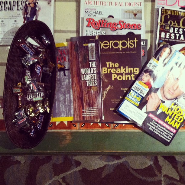 Waiting room essentials.