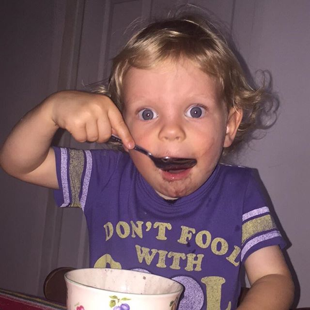 Beans beans, they're good for your heart. Photo by Belen. Beans by Vilma. Shirt from Caleb. #ittakesavillage #toddlerlife