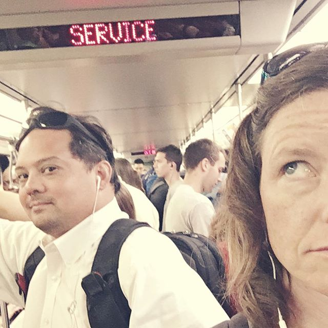"""""""Service,"""" as in """"Not in."""" Stuck on train for 30+ minutes, just another rite of passage."""