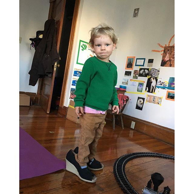 Just like ice skates. #toddlerfashion