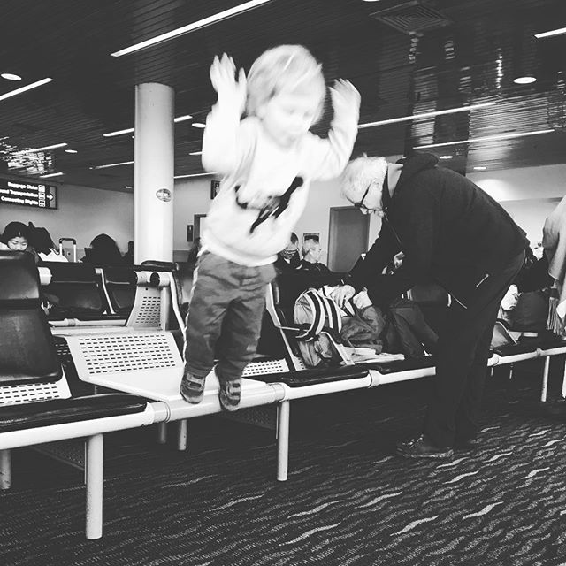 Flying toddler. #vacation