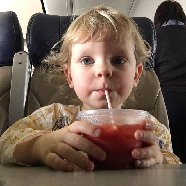 Several people on the plane thought he was a girl. I thanked them for their compliments on her wonderful behavior.