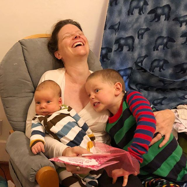 Missing my mom, always. And grateful for the chaos and joy that my boys bring us every second of the day (and night)! Love!! Happy Mother's Day, everyone! : @jdegrazia #momstaysinthepicture