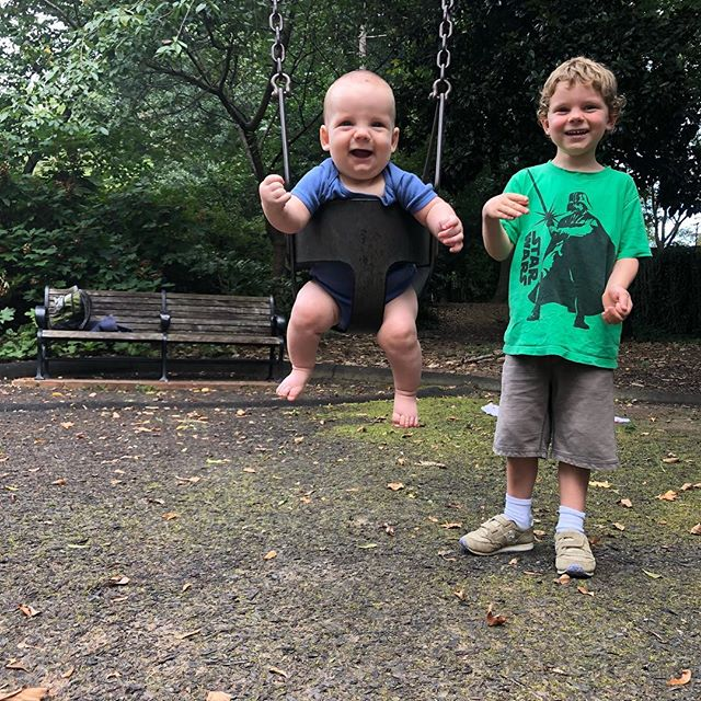 First swing ride. #brothers