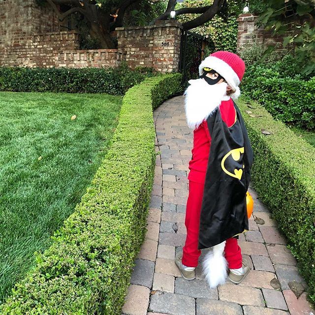 Batman Santa with a wolf tail, of course.